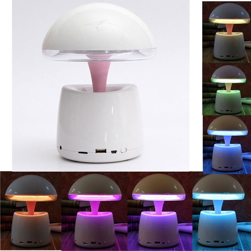 2 in 1 Multifunction Mini Wireless Bluetooth Speaker LED Light Stereo Super Bass For Computer Night Lamp With Remote Control(China (Mainland))