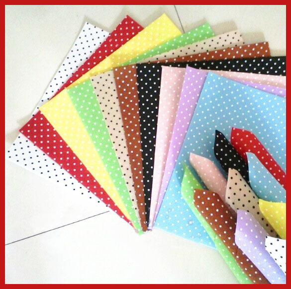Buy felt fabric polka dot printed 22 mix for Polka dot felt fabric