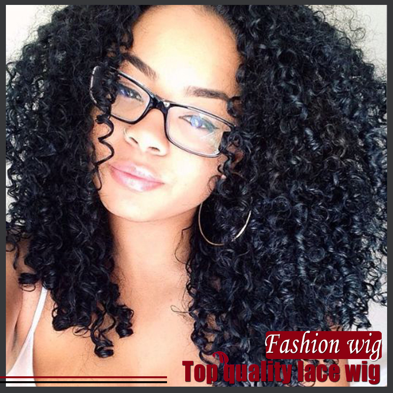 2016 New style Curly wig indian curly hair Synthetic Hair Heat Resistant body wave hair Lace Wigs For black Women<br><br>Aliexpress