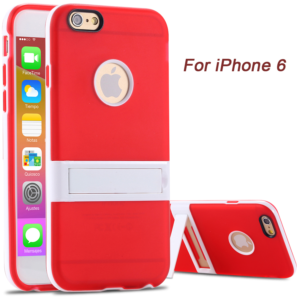 Dual TPU Back Cover iphone 6 6S White Frame Video Display Support Phone Cases Apple 4.7 inch Slim Light Soft - Shenzhen RCD Technology Co., Ltd. store