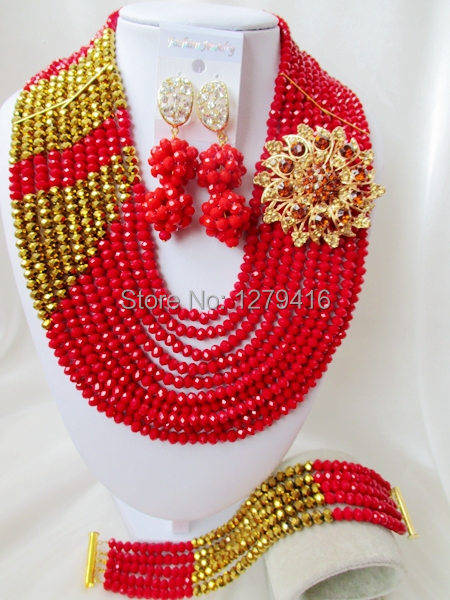 Beads, beautiful crystal necklace suits, Africa Nigeria wedding jewelry set  C2469<br><br>Aliexpress