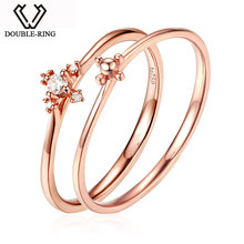 MZH 18K позолоченное и Алмазное Свадебное кольцо женское сертифицированное натуральное Алмазное 18K розовое позолоченное кольцо CAR06960KA-3    (China (Mainland))