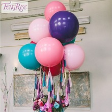 Buy FENGRISE 36 Inch Transparent Clear Latex Balloons Wedding Bouquets Big Ball Birthday Party Decoration Valentines Day Decor for $1.14 in AliExpress store
