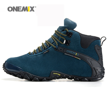 Onemix new autumn winter onemix men's anti slip outdoor sport shoes and wool lining women hiking shoes warm trekking shoes(China (Mainland))
