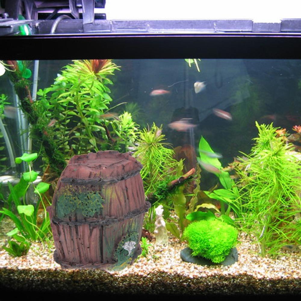 Fish aquarium for sale in pakistan - Wholesale Non Toxic Aquarium Fish Tank Resin Broken Barrel Ornament Cave Landscaping Decoration Beautification Aquarium