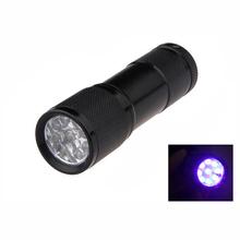 Buy Mini flashlight Aluminum Portable light UV Flashlight torch Violet Light 9 LED UV Torch Light Lamp for $1.38 in AliExpress store