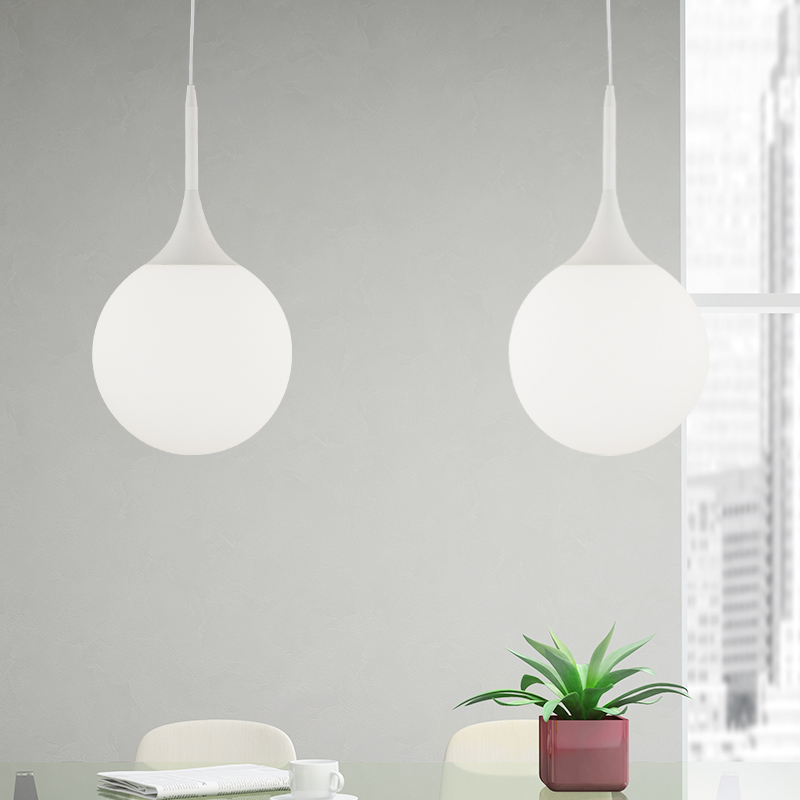 Modern White Pendant Lights Dia15cm Round Suspension Luminaire 110-240V Dinning Room Hanging Lights DIY Combination Lamp(China (Mainland))