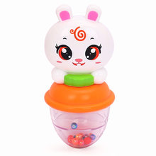 1pc Lovely Plastic Newborn Baby Toys Hand Shake Bell Ring Rattles Toys Baby Educational Toys HOLA 1101(China)