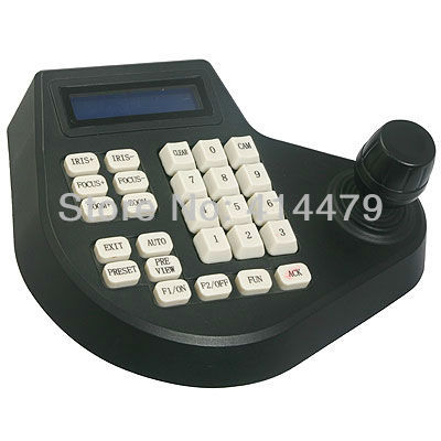 CCTV PTZ Keyboard Controller Joystick for RS485 PTZ Security Camera with LCD Monitor(China (Mainland))