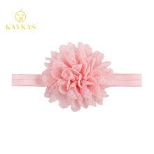 KAVKAS nuevo 1 piezas niñas diadema recién nacido bebé niña diadema de malla de rejilla flor encaje diadema Niños Accesorios para el pelo(China)