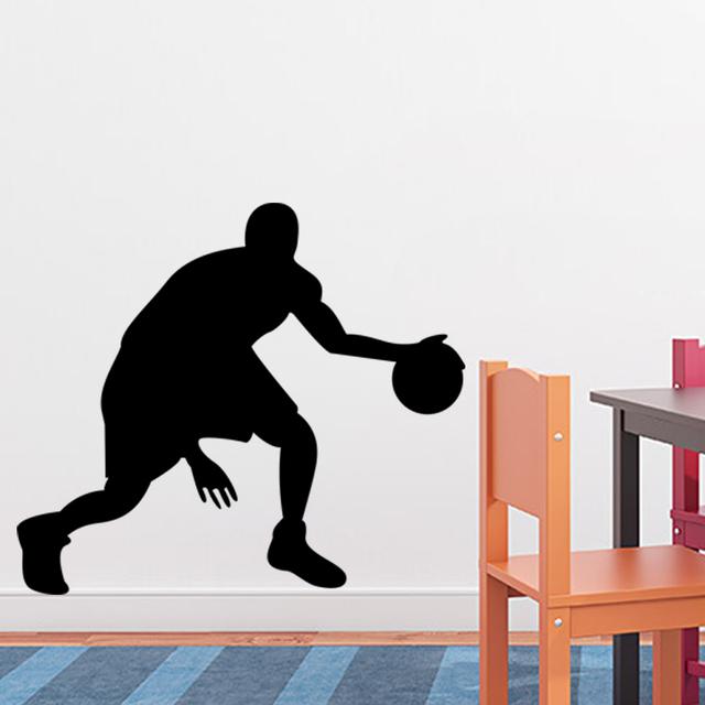 23 * 20 '' DIY стены искусства баскетболисты детская комната декор basketbal пройти проигрыватель наклейки ZYPA-8294