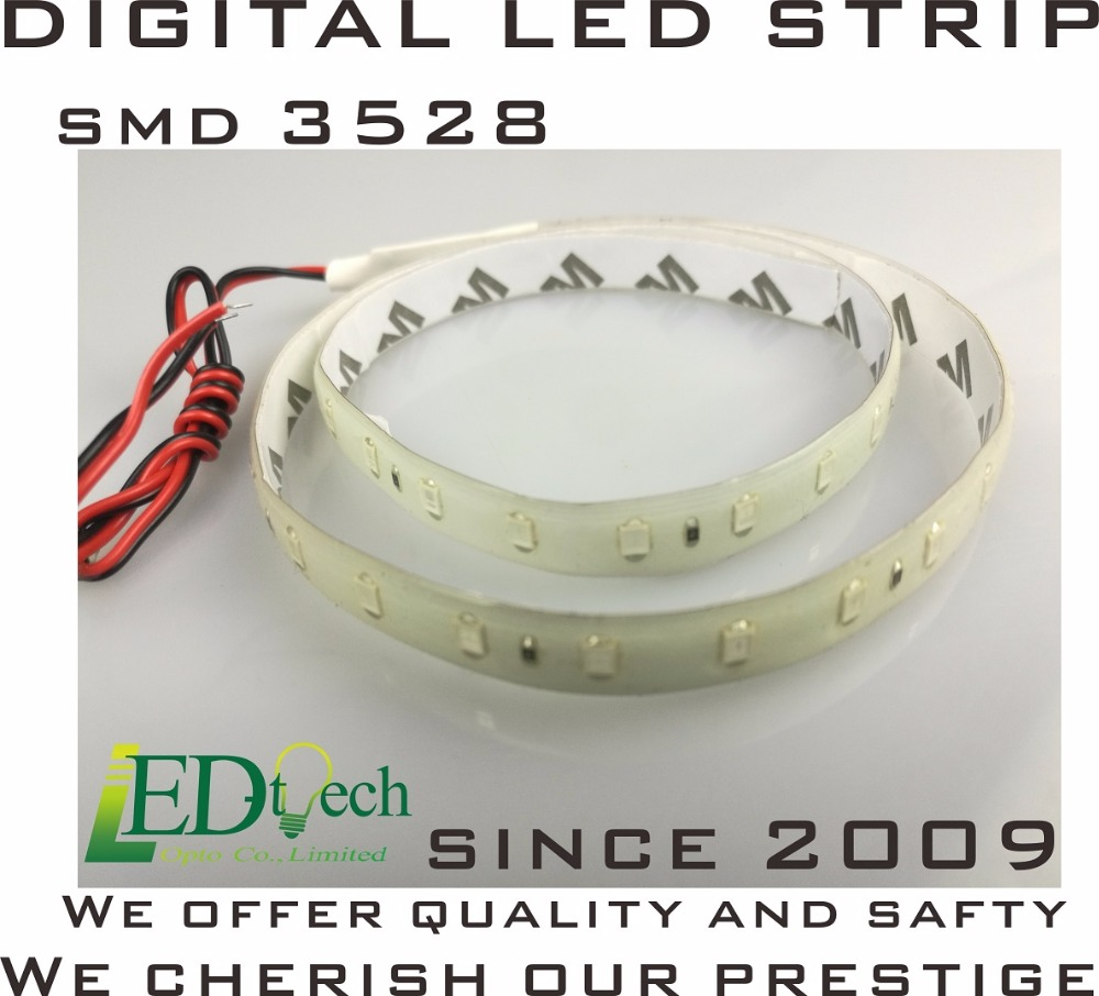 LED strip digital colorful rgb build-in ic auto program 3528 led chip x 48 pcs 0.6 meter per pcs(China (Mainland))