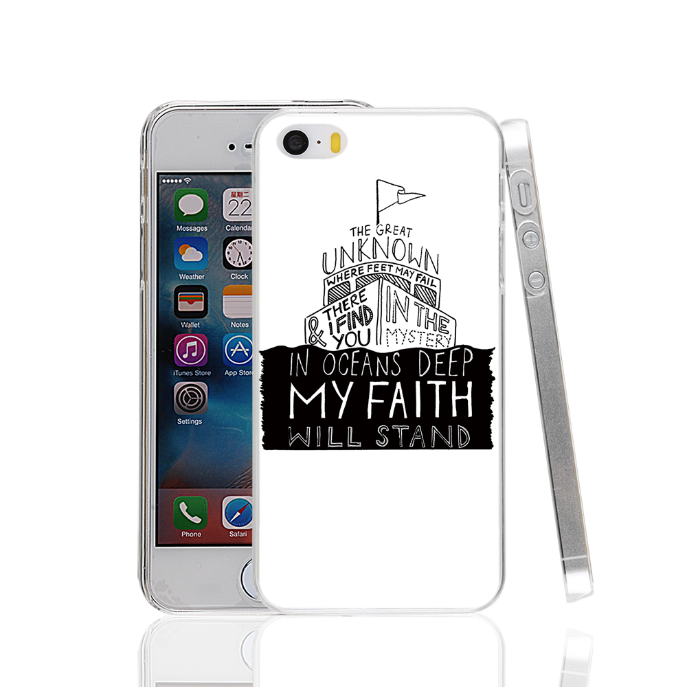 17861 The Great Unknown Lyrics Hillsong United hard transparent Cover Case for Apple iPhone 4 4S 5 5S 5C SE 6 6S Plus6S Plus(China (Mainland))