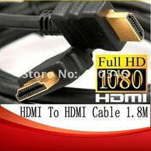 1.8M Premium 1.3 Gold 6FT High Speed HDMI to HDMI Cable for 1080p Blue Ray PS3 HDTV LCD Free shipping 10pcs/lot