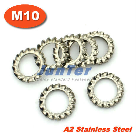 1000pcs/lot DIN6798A M10 Stainless Steel A2 External Serrated Lock washers<br><br>Aliexpress