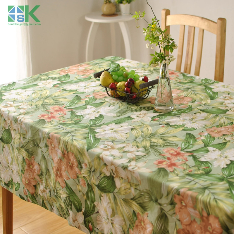 Home decors new Thick cotton table cloth fresh leaf flower fashion home hotel drape factory outlets American country style , fre(China (Mainland))