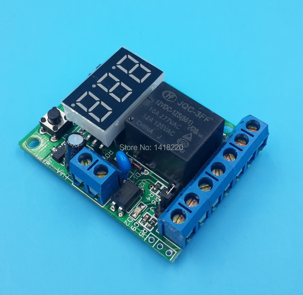 Free shipping 12V Voltage control relay/timer/delay switch overvoltage/under voltage protection(China (Mainland))