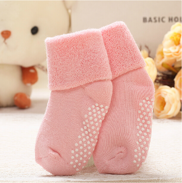 Гаджет  0-3 year old cotton baby socks Winter thick terry baby socks candy color socks for children kids warm socks Free shipping  None Детские товары