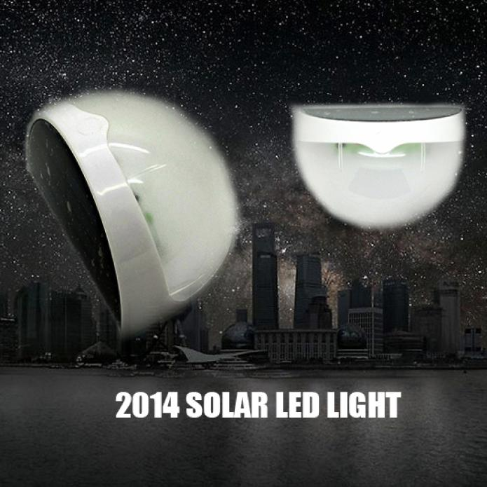 6 LED Solar Power light-dependent control Wall Lamp Garden Yard Gutter Fence Outdoor/Indoor light-operated LED Wall Light(China (Mainland))