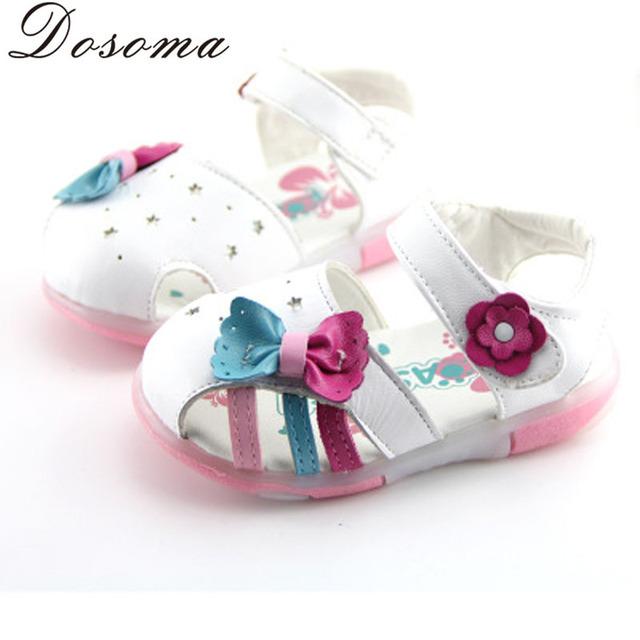 Летом новые ребенка малыша обувь мягкое дно подлинные овчины новорожденных девочек ...