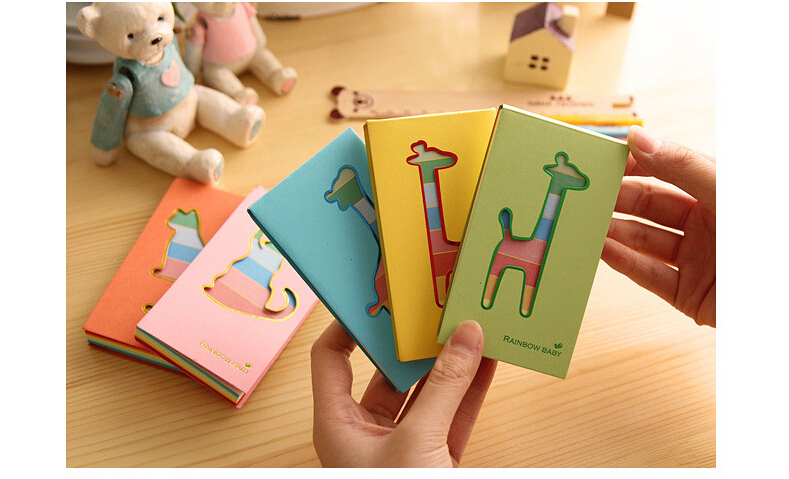 Best price Cutout small animal color page pocket fresh mini memo pad notes on paper 100pcs(China (Mainland))