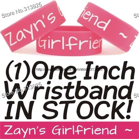 """ZAYN'S GIRLFRIEND Wristband One Direction Merchandise Bracelet Zayn Malik Fans,silicone debossed,1"""" band,50pcs/lot,freeshipping(China (Mainland))"""