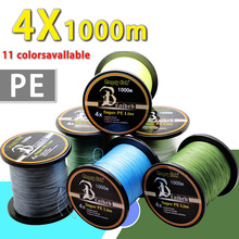 Wholesale 1000m 4x Braided Fishing Line 11 Colors Super PE Line Strong Strength
