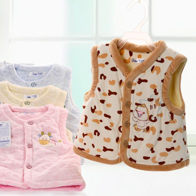 Winter clothes thickening cotton vest baby vest baby vest 0 - 1 - 2 years old child clothes vest(China (Mainland))