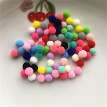 Buy 100pcs Approx 8mm Multi Color Pompom Fur Craft DIY Soft Pom Poms Wedding Decoration/Sewing Cloth Accessories Free Ship for $1.42 in AliExpress store