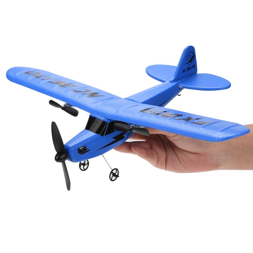 New FX803 2CH Remote Control Plane RC R/C Airplane with Gyro Blue 66