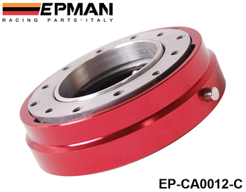 PIVOT - EPMAN Red Thin Version 6 Hole Steering Wheel Quick Release Hub Adapter Snap Off Boss kit EP-CA0012-C-Red
