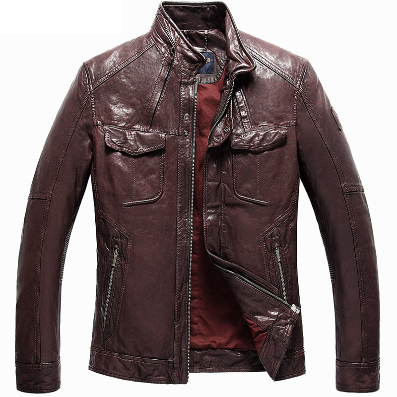 2015 New  Dermis  Vegetable tanned  Sheep skin  Mens leather jacket  Motorcycle leather DXY1922Одежда и ак�е��уары<br><br><br>Aliexpress