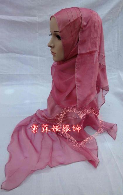 Muslim bandanas hijab silk fashion scarf charming 2(China (Mainland))