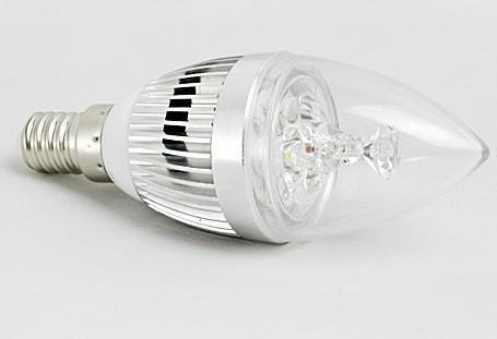 100pcs/lots CREE Dimmable e14 9W 3 LED Candle Bulb White Highlighted Light Bulb(China (Mainland))