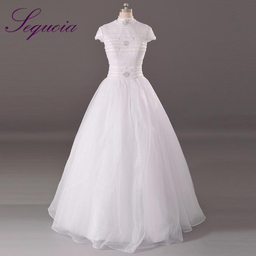 Buy real sample vintage high collar cap for Wedding dress high collar
