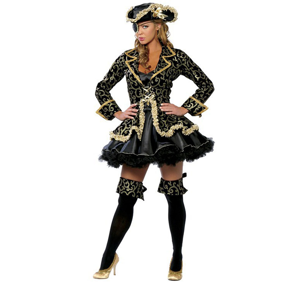 Pirate Costumes Halloween Party Role Play Uniform Bar Costume Dance Costumes(China (Mainland))