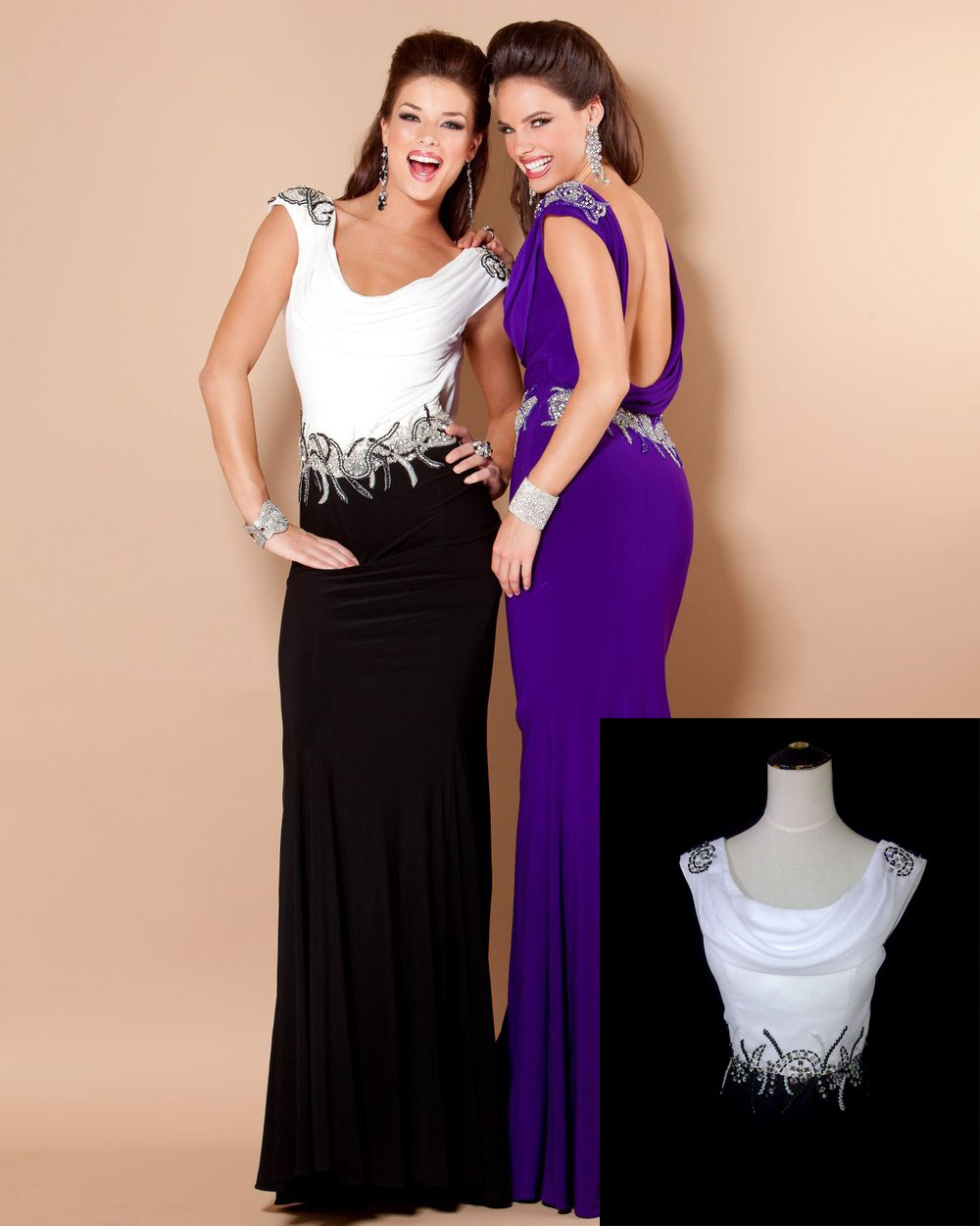 Custom made backless evening dresses cocktail night dress prom plus size celebrity formal - Wedding Online store