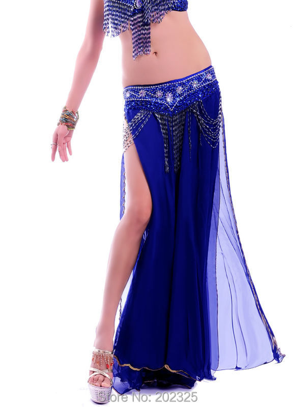 Free shipping High quality New bellydancing skirts belly dance skirt costume training dress or performance -6009