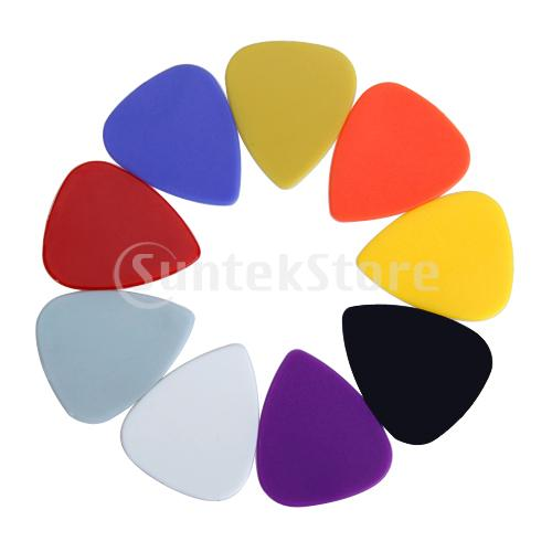 Free Shipping 100pcs Plastic Guitar Picks Plectrums 0.71mm Assorted Color(China (Mainland))