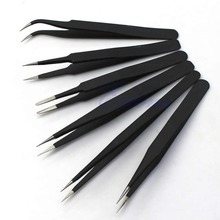 Hot sale 6pcs/ lot  Resists Corrosion Safe Anti-static Tweezers Maintenance Tools ESD10-15