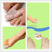 2PCS=1Pair Big Toe Protector New Super Soft Silicone Gel Pain Relief Toe Spacer to Relieve Bunion Pain Free Shipping Toe Cover