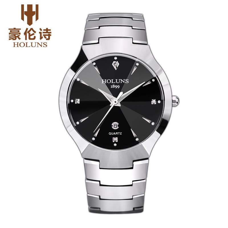 HOLUNS DM101 Watch Geneva Brand Authentic watches Thin fashion business men's diamond calendar tungsten quartz relogio feminino(China (Mainland))