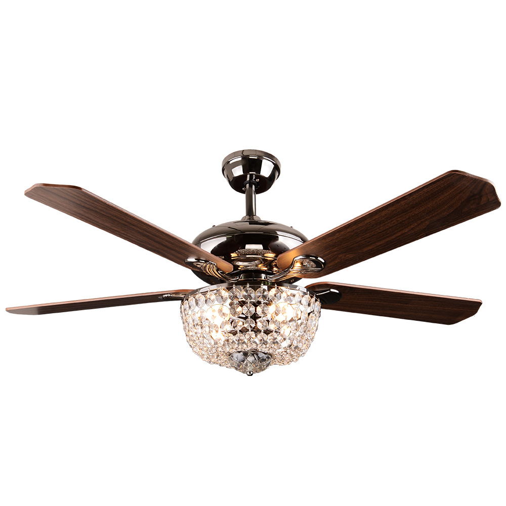 Ceiling Fans With Lights : Crystal ceiling fan light rustic sf