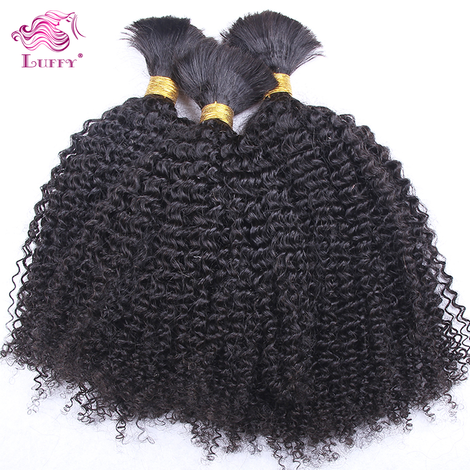 Top Quality 6A Mongolian Kinky Curly Virgin Hair Bulk Human Hair For Braiding Afro Kinky Curly Hair Braids No Attachment 3pc/lot(China (Mainland))