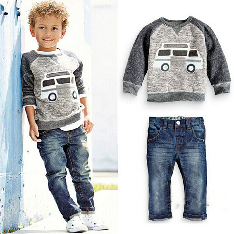 Children Boys Suits Clothing Baby Boy 2-6 Years Kids 2 PCS Sets Spring Autumn Clothes Set<br><br>Aliexpress
