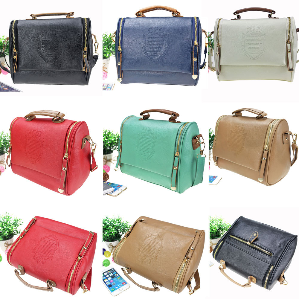 Hot Sale Women Leather PU Soft Handbag Cartoon Bag Fashion Designer Shoulder Crossbody Bags Women Messenger Bag, Vintage Bags(China (Mainland))
