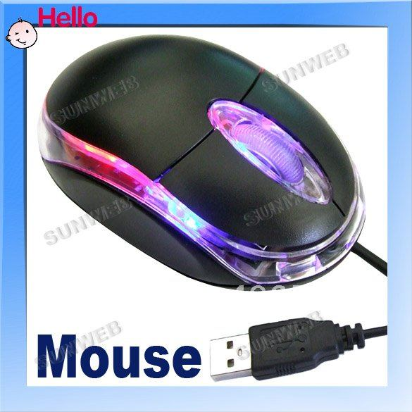 newArrival Mini USB Scroll Wheel 3D Optical Mouse for Desktop PC Laptop Wholesale dropShipping 078(China (Mainland))