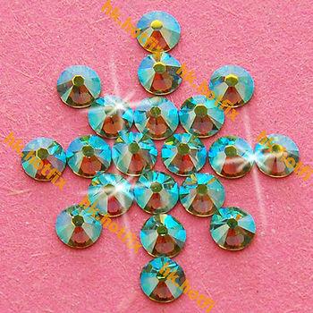 ss20 GENUINE Swarovski Elements AB Peridot ( 214 AB ) 720 pcs ( NO hotfix Rhinestone ) Clear Crystal 20ss 2058 FLATBACK Glass