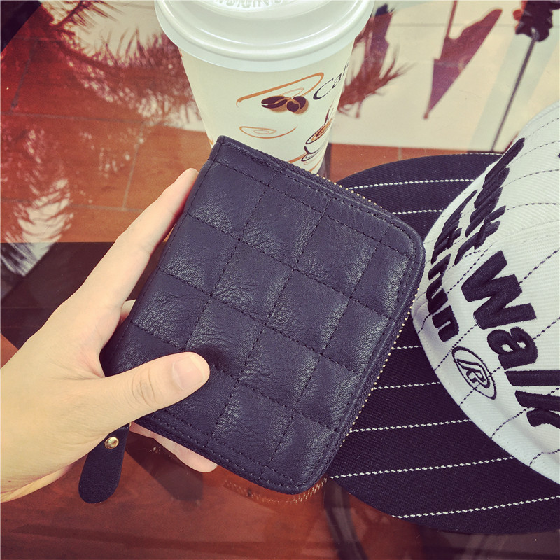 New arrival Casual Vintage zip PU Leather wallet card holder dress money box handbag purse women organizer coin purses holders(China (Mainland))