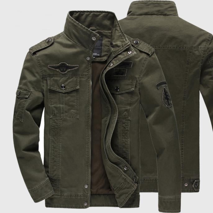 2016 Mens Jackets Coats Military High Quality Mens Army Soldier Jacket Washing Cotton Air Force One Male Plus Autumn Wa199